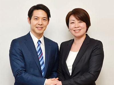北海道知事候補予定者 鈴木直道氏と
